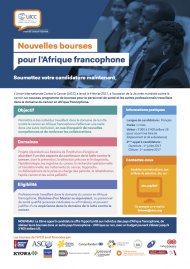 Bourses pour l'afrique francophone