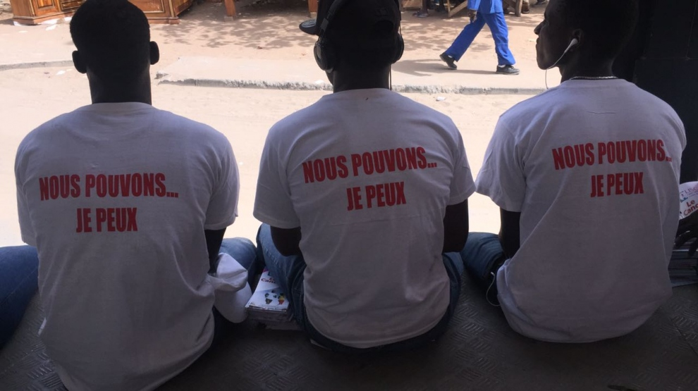 World Cancer Day 2017: Ligue sénégalaise contre le cancer supporters wear WCD t-shirts
